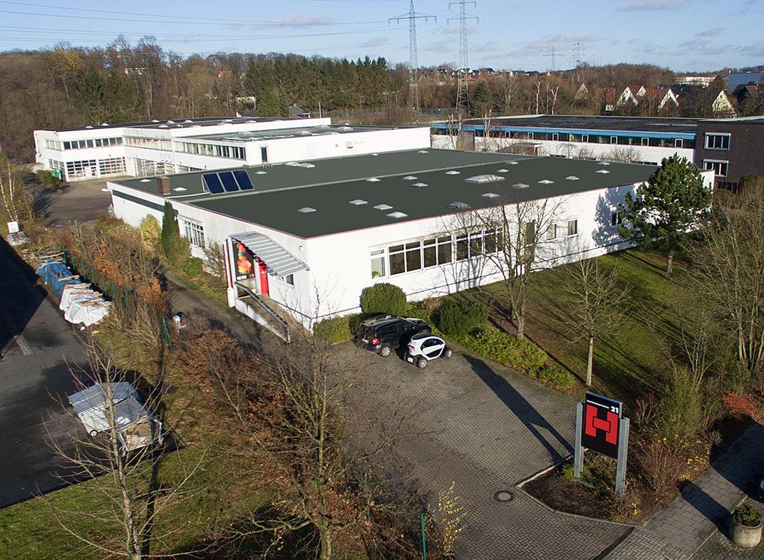 Hinrichs Licht+Druck GmbH - Firmengebäude mit Produktionshallen
