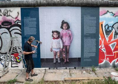 WARonWALL auf der Berliner Mauer
