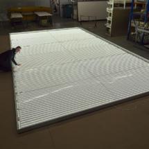 Bau einer Leuchtwand , Werkstattbild
